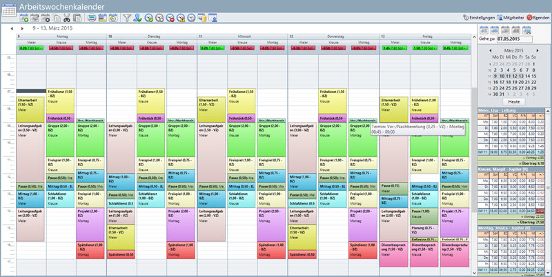 Dienstplan – Kitathek Pro
