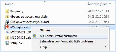 Starten Sie die Datei mit Administratorenrechten