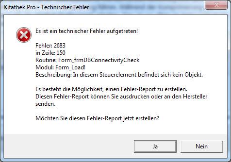 Falls Sie weiterhin Probleme mit der Mscomctl.ocx haben, erscheint diese Fehlermeldung