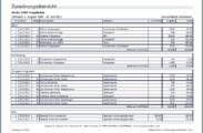 Kassenbuch-Auswertung nach Zuordnung