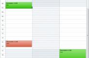 Überstunden im Tageskalender
