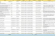 Die gefilterte Datenblattansicht mit einer Summenzeile. Die Anzeige kann man über die Zwischenablage exportieren