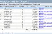 Über die ToDo-Liste können Sie die Rechnungen erstellen lassen und den SEPA-Export aufrufen